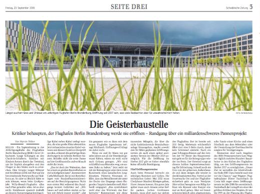 BER – Besuch auf einer Geisterbaustelle  Reportage Seite 3 Schwäbische Zeitung