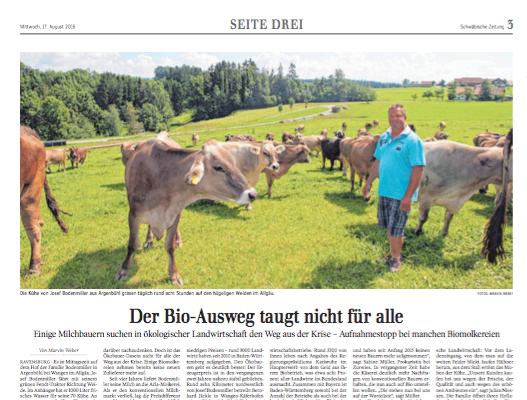 Biolandwirtschaft – der Weg aus der Krise?   Seite 3 Schwäbische Zeitung