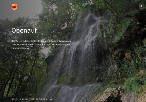 Multimediales Storytelling   Wasserfallsteig Bad Urach