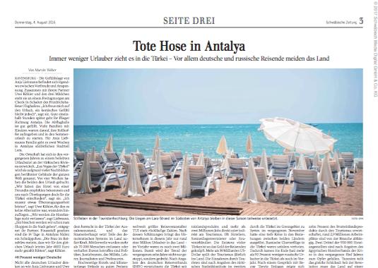 Tote Hose in Antalya  Seite 3 Schwäbische Zeitung