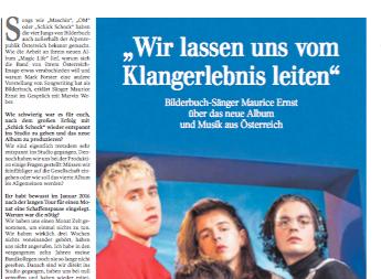 Bilderbuch Interview  Kultur Schwäbische Zeitung