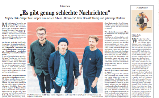 Mighty Oaks Interview   Kultur Schwäbische Zeitung
