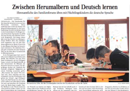 Zwischen Herumalbern und Deutsch lernen   Schwäbische Zeitung Lokales