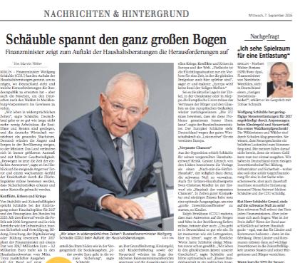 Haushaltsberatungen im Bundestag |Politik Schwäbische Zeitung