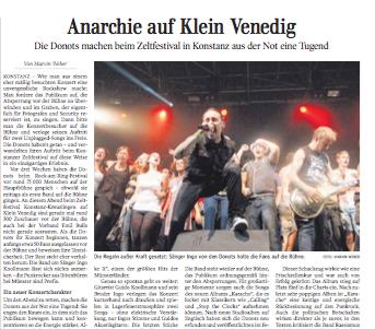 Anarchie auf Klein Venedig |Kultur Schwäbische Zeitung