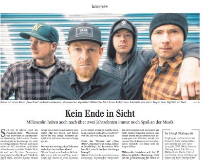 Millencollin Interview | Kultur Schwäbische Zeitung