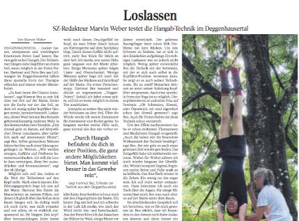 Loslassen: Hangab-Yoga im Selbstversuch |Schwäbische Zeitung Lokales
