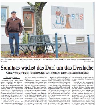 Sonntags wächst das Dorf um das Dreifache |Schwäbische Zeitung Lokales
