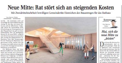 Diskussionsbedarf im Gemeinderat | Schwäbische Zeitung Lokales
