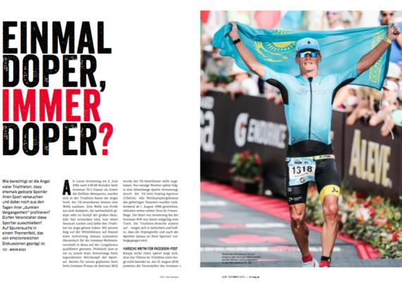 Einmal Doper, immer Doper? |triathlon 175